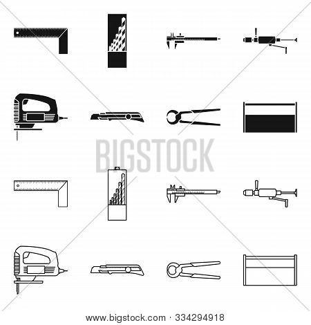 Vector Design Of Renovation And Household Symbol. Set Of Renovation And Handicraft Stock Vector Illu