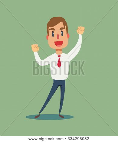 Happy And Excited Young Business Man Celebrating Victory Expressing Success, Power, Energy And Posit