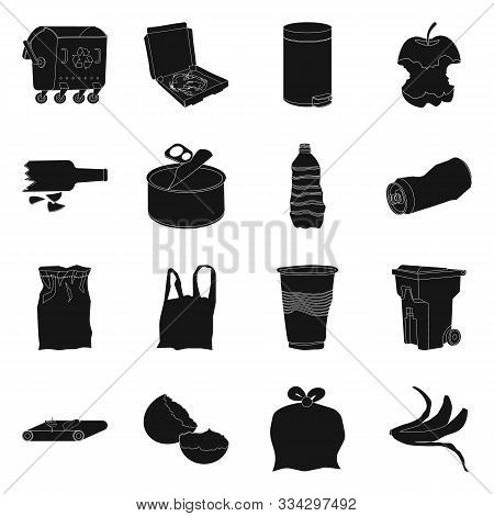 Vector Design Of Refuse And Junk Icon. Set Of Refuse And Waste Stock Symbol For Web.