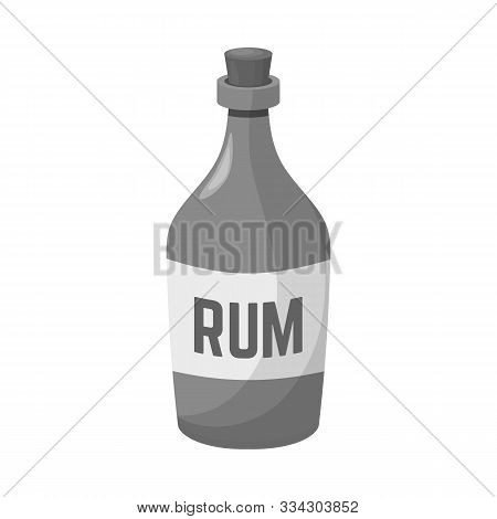 Isolated Object Of Rum And Bottle Symbol. Web Element Of Rum And Alcohol Stock Vector Illustration.
