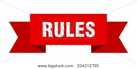Rules Ribbon. Rules Isolated Sign. Rules Banner