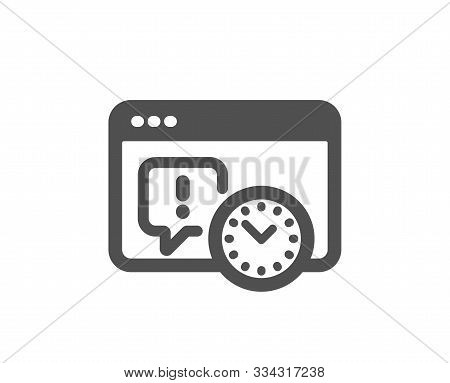 Time Management Sign. Project Deadline Icon. Internet Symbol. Classic Flat Style. Simple Project Dea