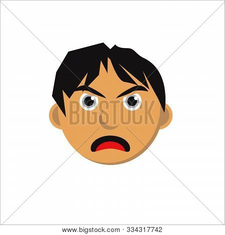 Angry Faces Characters Isolated Vector Illustration.eps 10