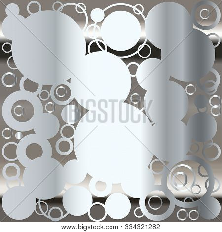 A Background Of Retrograde Circlesover A Silver Background.