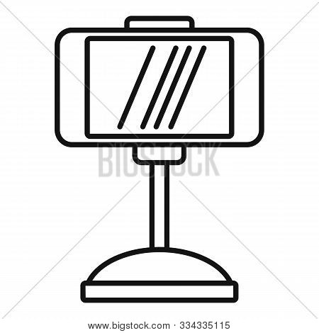 Smartphone Car Holder Icon. Outline Smartphone Car Holder Vector Icon For Web Design Isolated On Whi