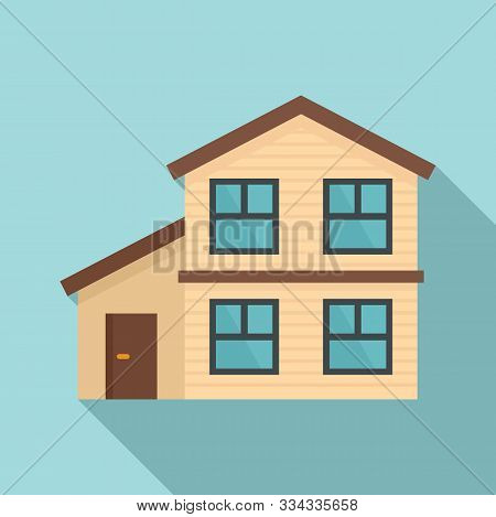 Cottage House Icon. Flat Illustration Of Cottage House Vector Icon For Web Design