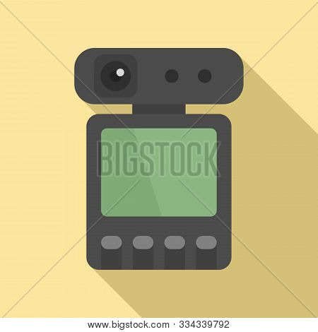 Dvr Recorder Icon. Flat Illustration Of Dvr Recorder Vector Icon For Web Design