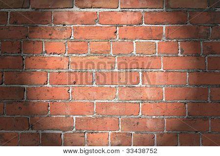 Spotlighted 1890's Brick Wall