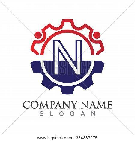 N Letter Logo Or Symbol Creative Template Design