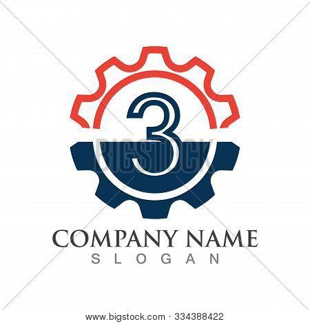 Number 3 Logo Or Symbol Creative Template Design