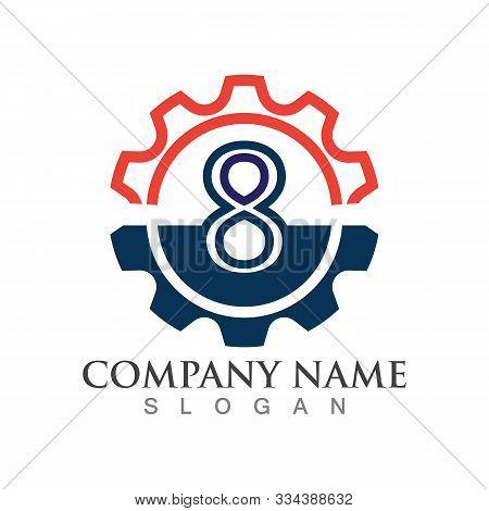 Number 8  Logo Or Symbol Creative Template Design