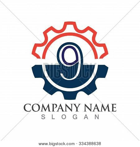 Number 9  Logo Or Symbol Creative Template Design
