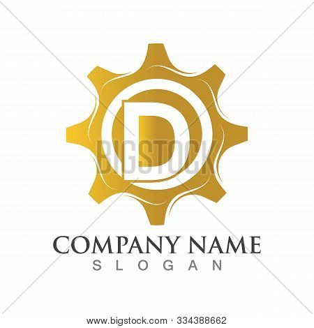 D Letter Logo Or Symbol Creative Gear Template