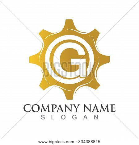 G Letter Logo Or Symbol Creative Gear Template