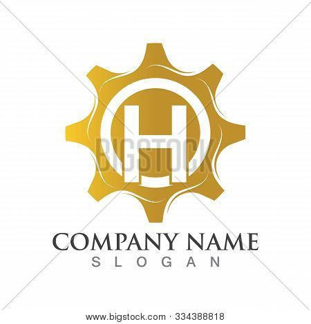 H Letter Logo Or Symbol Creative Gear Template