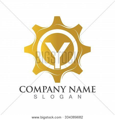 Y Letter Logo Or Symbol Creative Gear Template