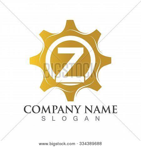 Z Letter Logo Or Symbol Creative Gear Template