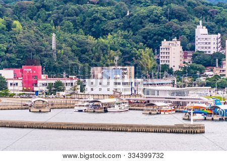 Toba, Japan - 24 Sep 2019 : Passenger Are Traveling To Toba Island Using The Embarking Ship From Dia