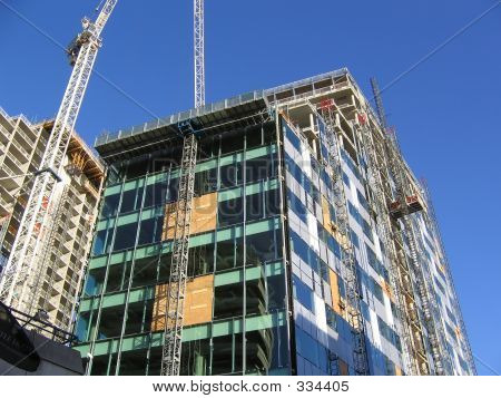 Construction Of Modern Office Building In Liverpool