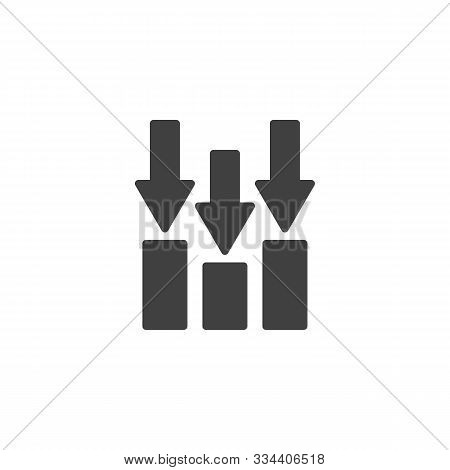 Decline Bar Chart Vector Icon. Filled Flat Sign For Mobile Concept And Web Design. Declining Graph A