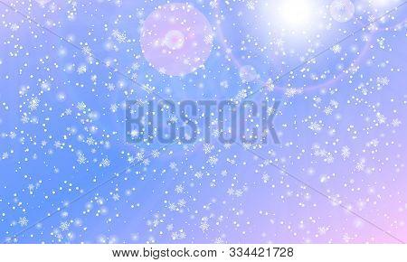 Winter Snow Background. Vector Illustration. Snowfall Sky. Christmas Background. Falling Snow.