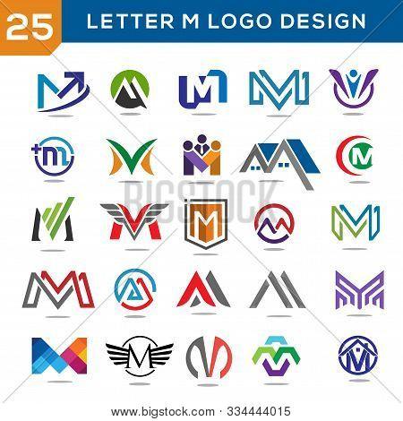 Letter M Logo Set, Elegant And Modern Concept Of Letter M Logo Vector Set