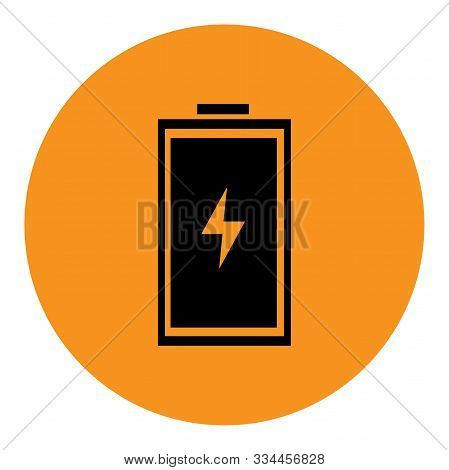Rechargeable Lithium Ion Battery Icon Vector Illustration. Perfect For Icon, Sign, Symbol, Sticker,