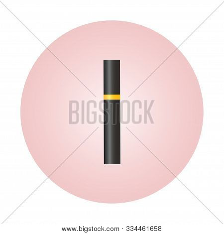 Black Mascara Tube Isolated On White. Concept Cosmetic, Makeup, Mascara Vector Best Vector Icon