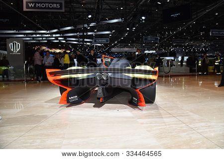 Geneva, Switzerland, March 06-2018: Aston Martin Valkyrie At Gims