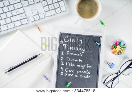 Giving Tuesday Concept Background
