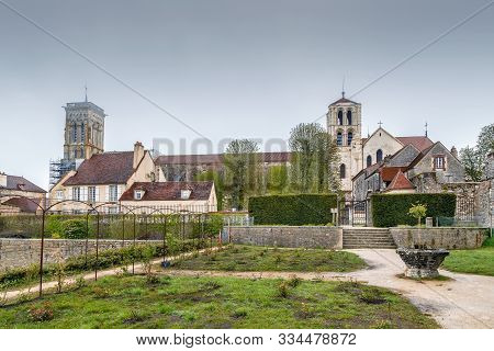 Vezelay Abbey Is A Benedictine And Cluniac Monastery In Vezelay, Department Of Yonne, France