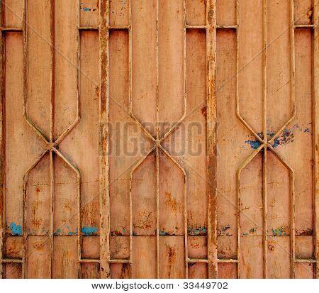Rusty Steel Gate