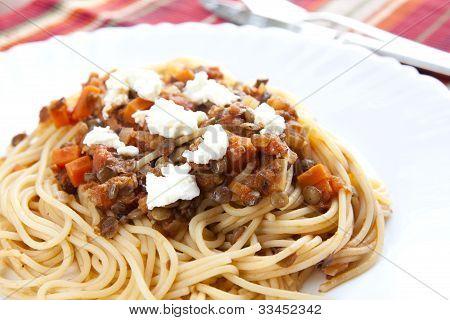 Spaghetti With Lentil