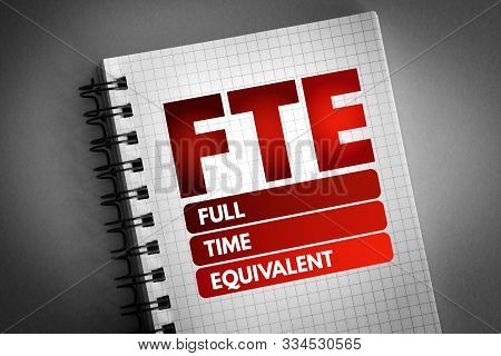Fte - Full Time Equivalent Acronym, Business Concept Background