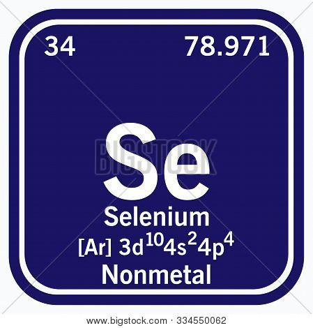 Selenium Periodic Table Of The Elements Vector Illustration Eps 10.