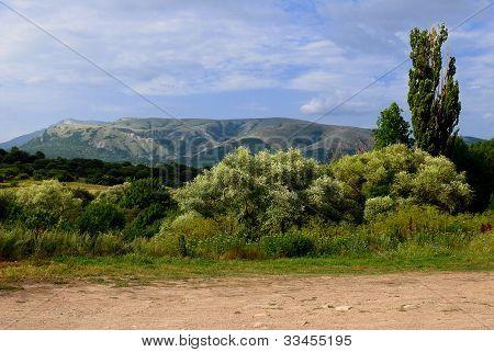 Simferopol. The valley of the Kizil-Koba. Crimea. Ukraine poster