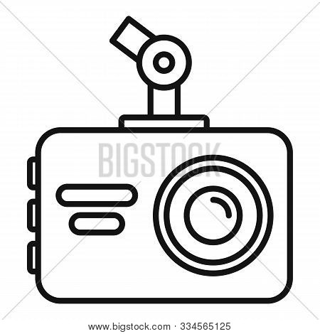 Dvr Recorder Icon. Outline Dvr Recorder Vector Icon For Web Design Isolated On White Background