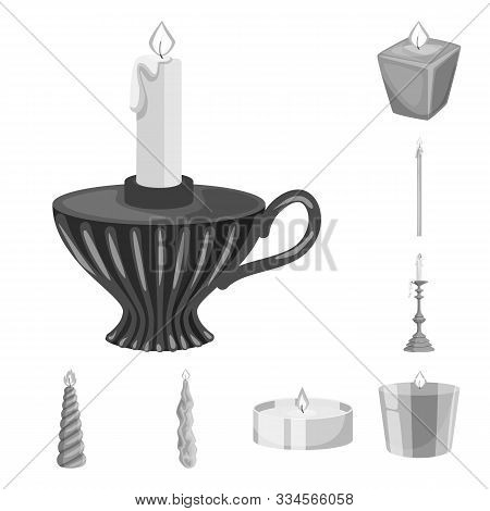 Isolated Object Of Paraffin And Fire Icon. Set Of Paraffin And Decoration Stock Vector Illustration.