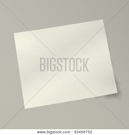 A Blank Note On Isolate  Background