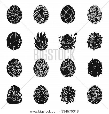 Isolated Object Of Fantastic And Cute Sign. Collection Of Fantastic And Magic Stock Vector Illustrat