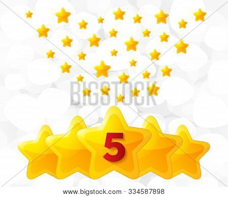 Five Golden Stars. Best Rated, Feedback Rating, Customer Satisfaction. Best Quality Service. Five-po