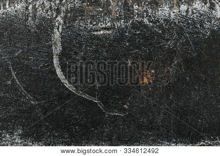 Abstract Grunge Background. Closeup Old Metal Wall.