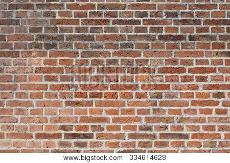 Brick Wall Of Red Color. Old Wall. Grunge Brick.