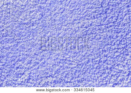 Lilac Seamless Terry Cloth Texture. Monochrom Towel Background. Close-up Of Purple Fleecy Fabric