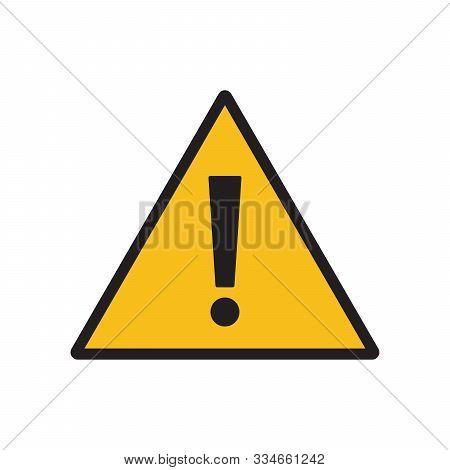 Danger, Hazard Yellow Symbol. Danger Alert Or Attention. Attention Triangle Sign. Hazard Alert Infor
