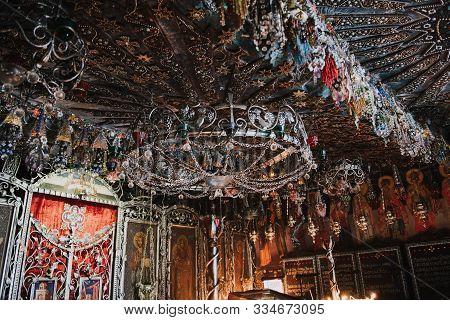 Crimea, Bakhchisarai, 13.09.2019: Church Of St. Anastasia Uzoreshitelnitsa In Beaded Decoration. Bea