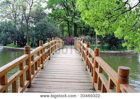 Bridge in chinese park.