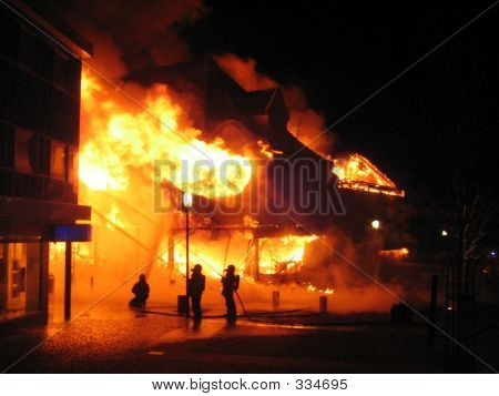 House In A Burning Inferno