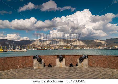 Beautiful Landscape Views Of The Embankment And Views Of Tsemesskaya Bay Of Novorossiysk.