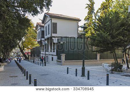 Thessaloniki, Greece - September 22, 2019: Mustafa Kemal Ataturk Museum In City Of Thessaloniki, Cen
